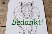 We won't let the rhino fade into extinction!